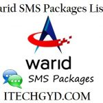 Warid SMS Packages – Daily, Weekly & Monthly Messages Bundles Free Download