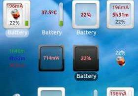 3C Battery Monitor Widget