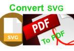 Best 3 Ways to Convert SVG to PDF [2019]